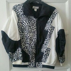 Vtg. Black & White Jacket